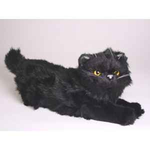 peluche allong e chat persan noir 40 cm piutre 2397 de peluche animali re piutre. Black Bedroom Furniture Sets. Home Design Ideas
