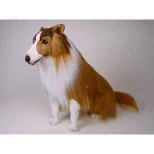 Peluche assise collie 75 cm Piutre -1271