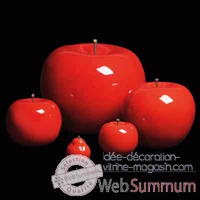 Pomme rouge brillant glace Bull Stein - diam. 29 cm outdoor