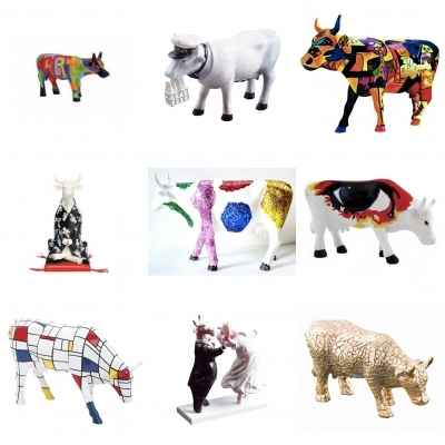 Promotion 9 vaches Cow Parade petits modeles -LWS-259