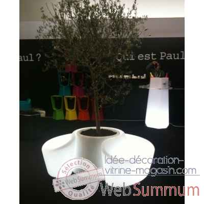 Banc sardana lumineux Qui est Paul de Meuble Jardin Design
