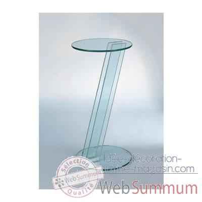 console marais en verre tremp de marais international de meubles transparent marais c. Black Bedroom Furniture Sets. Home Design Ideas
