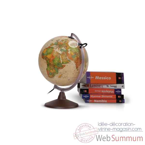 Globe lumineux marco polo 25 antique 25 cm (diametre) Sicjeg