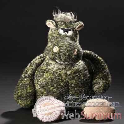 Peluche hippopotame queen of nil sigikid 38245 dans for Hippopotame decoration