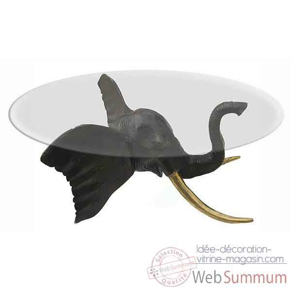 Table basse elephant en bronze -BRZ307