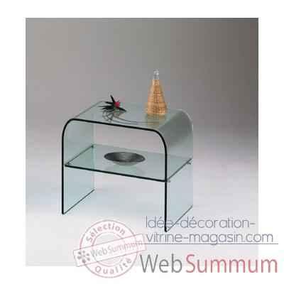table de chevet marais en verre bombé recuit -cheta dans tables