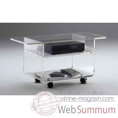 Table tele 90x39.6x42.5 Marais lecteur DVD en PMMA -MTV49