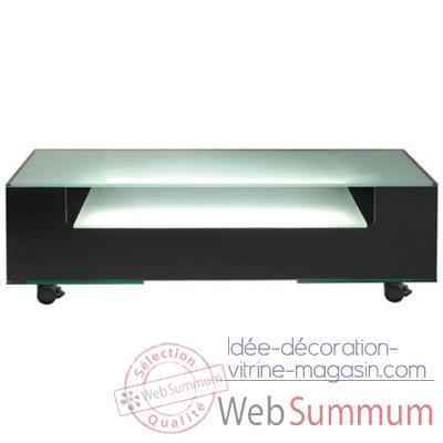 Table t l 125x40x40 7 marais lumineuse en verre tremp de for Table tele verre