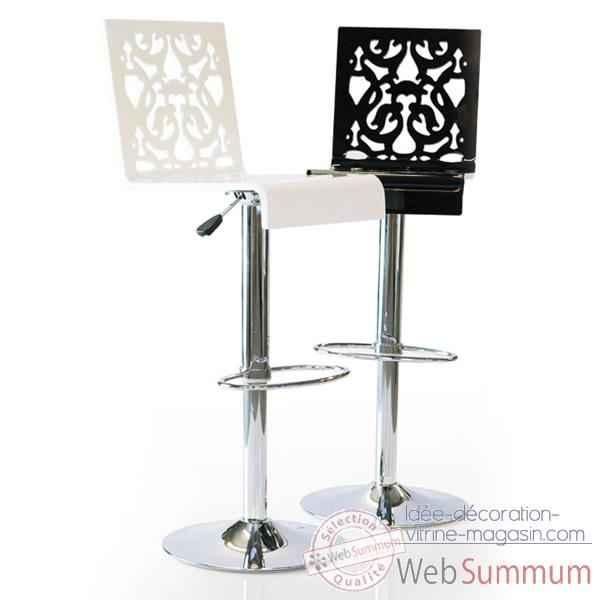 tabouret contemporain dentelle noir acrila 0037 de. Black Bedroom Furniture Sets. Home Design Ideas