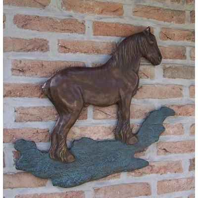 Cheval de trait belge decoration murale -HW1238BR-B