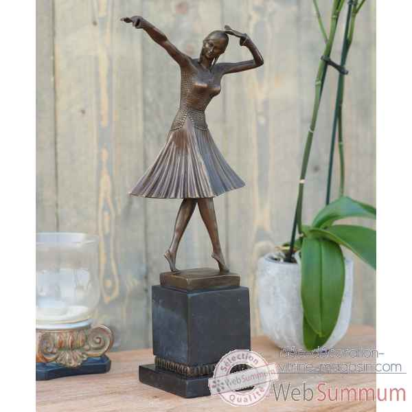 Danseuse art deco 44 cm Thermobrass -AN1210BR-B