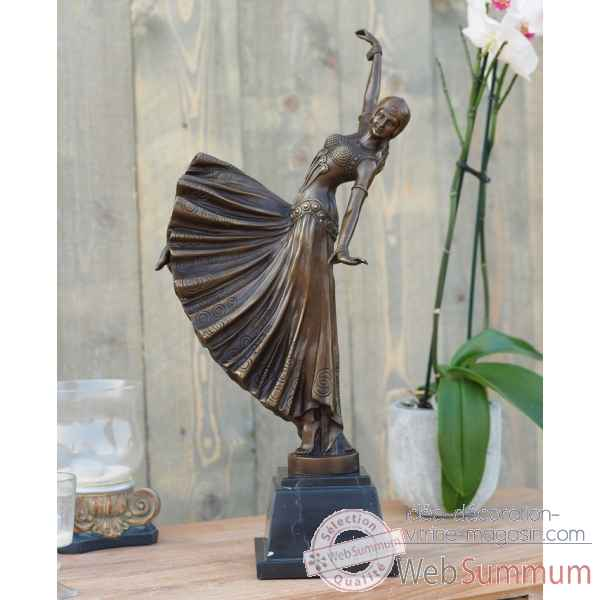 Danseuse art deco 55 cm Thermobrass -AN1206BR-B