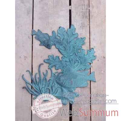 Poisson/corail decoration murale -HW1082BR-V
