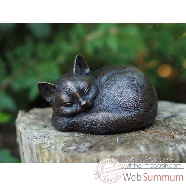 Sculpture chat en bronze thermobrass -an1228br-b