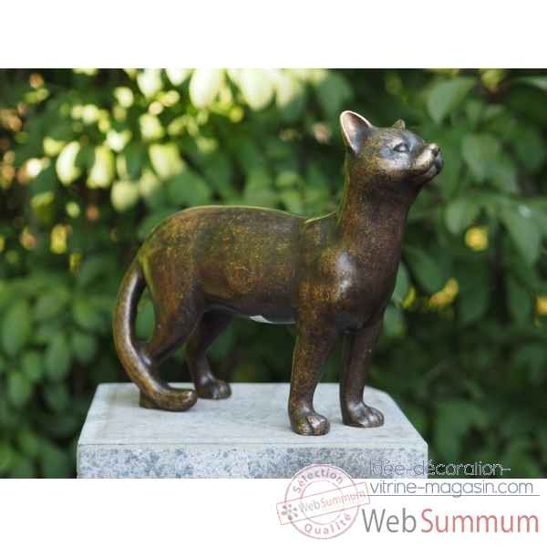 Sculpture chat en bronze thermobrass -an1309br-bi