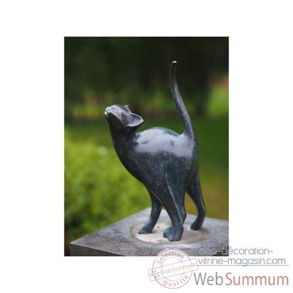 Statue en bronze chat modern thermobrass -an1666brw-vi