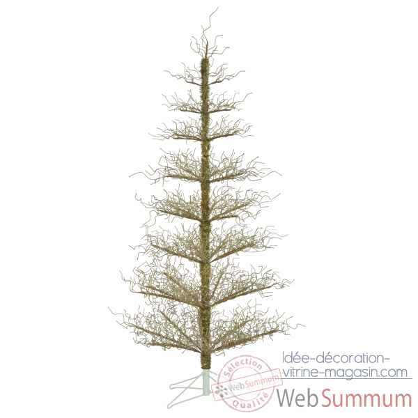 Sapin deco tree gold wrapped h152 Van der Gucht -31WDTG152