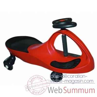 Voiture rouge kids-Car Roues silencieuses 40020
