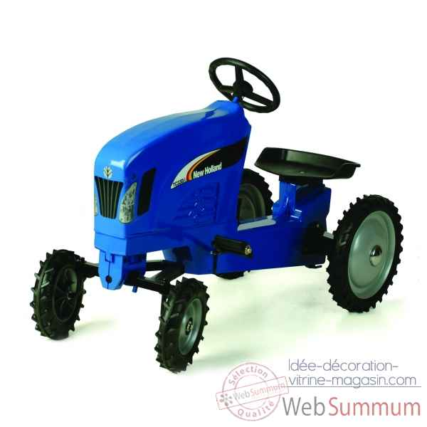 Tracteur a pedales en metal bleu new holland tc330 DD-014