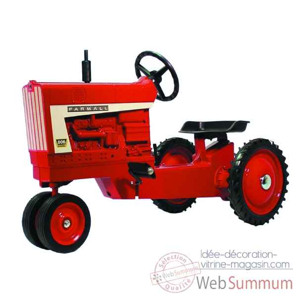 Tracteur a pedales en metal rouge farmall 826 golden DD-008