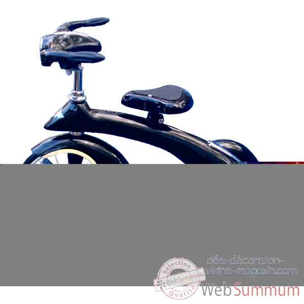 Velo trike retro en metal a pedales noir junior sky king AF-016