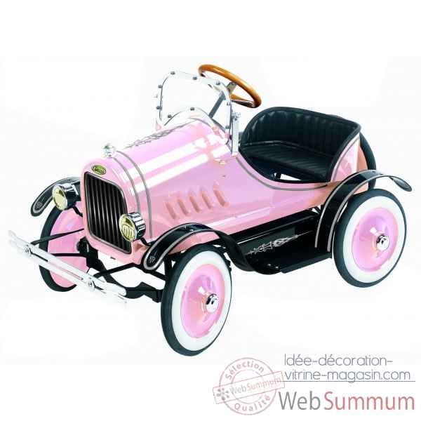 Voiture a pedales en metal deluxe model t roadster rose G-062